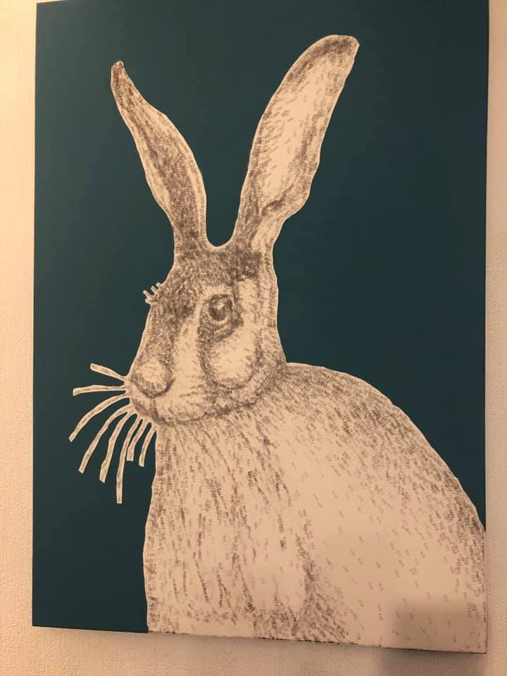 Hare Text Hand Printed
